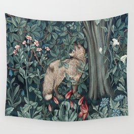 William Morris Forest Fox Tapestry Wall Tapestry