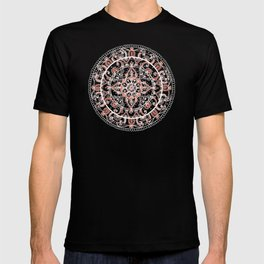 Detailed Burnt Orange Mandala T-shirt