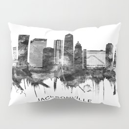 Jacksonville Florida Skyline BW Pillow Sham