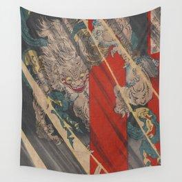 Ukiyo-e Rajōmon watanabe no tsuna oni ude kiru no zu Wall Tapestry