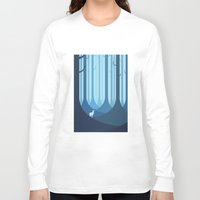 forest Long Sleeve T-shirts featuring Blue forest by Roland Banrevi