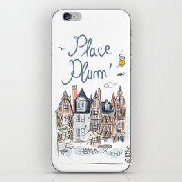 Place Plum'de Tours iPhone Skin