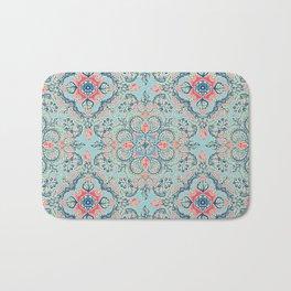 Gypsy Floral in Red & Blue Bath Mat