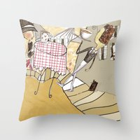 france Throw Pillows featuring France by Lee-or Atsmon Fruin