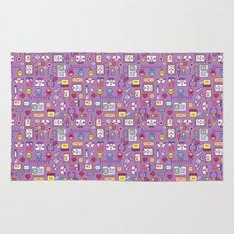 Proud To Be a Nurse Pattern / Purple Rug