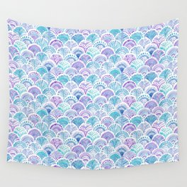 Mystical MERMAID DAYDREAMS Watercolor Scales Wall Tapestry