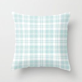 Cozy Plaid in Mint Throw Pillow