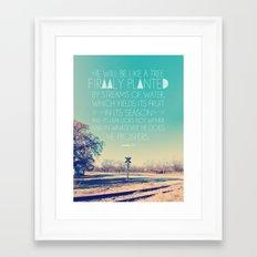 Psalm 1:3 Framed Art Print