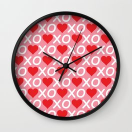 Custom Valentine's Day Pattern Wall Clock
