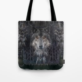 The Winter is here - Wolf Dreamcatcher Tote Bag
