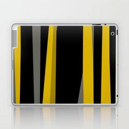yellow gray and black Laptop & iPad Skin