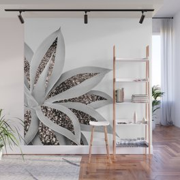 Agave Finesse Glitter Glam #1 #tropical #decor #art #society6 Wall Mural