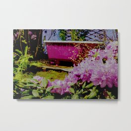 Pink Bathtub Metal Print