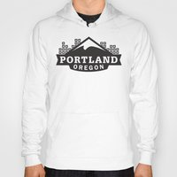 portland Hoodies featuring Portland Logo by Corey Price