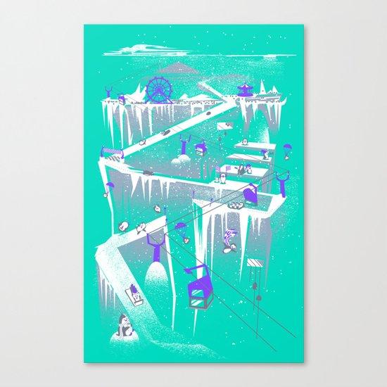 Penguins (flat, palette swap) Canvas Print