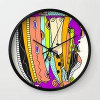 death cab for cutie Wall Clocks featuring Cutie by Ingrid Padilla