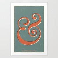 ampersand Art Prints featuring Ampersand by Bill Pyle
