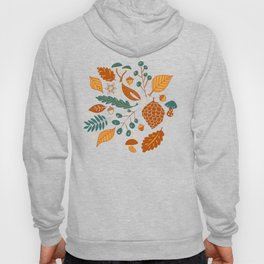 Fall Foliage in Yellow, Terracotta, and Blue Hoody