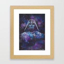 Darth Vader Galaxy Framed Art Print