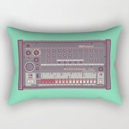 Roland TR-808 Rhythm Composer Vector Illustration Rectangular Pillow