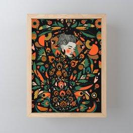 Black Velvet and Clementine Framed Mini Art Print