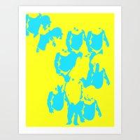Valitas yellow Art Print