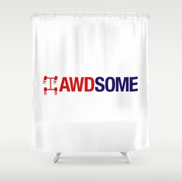 AWDSOME v2 HQvector Shower Curtain