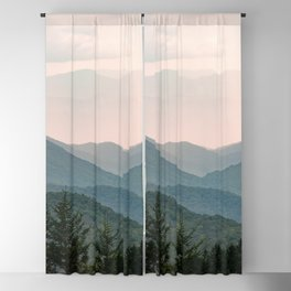 Smoky Mountain Pastel Sunset Blackout Curtain