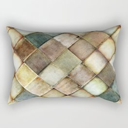 diamond path pattern Rectangular Pillow