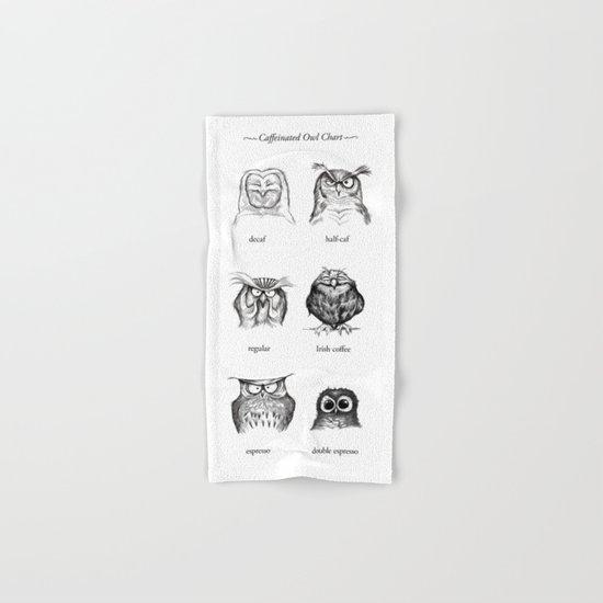 Caffeinated Owls Hand & Bath Towel