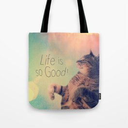 Dancing Kitty Cat Tote Bag