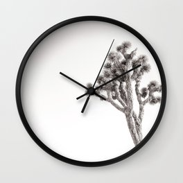 Joshua Tree in Black & White Wall Clock
