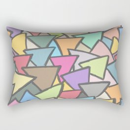 Painted Glass pieces Rectangular Pillow