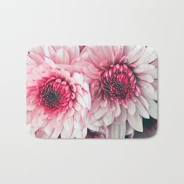 Pink asters Bath Mat