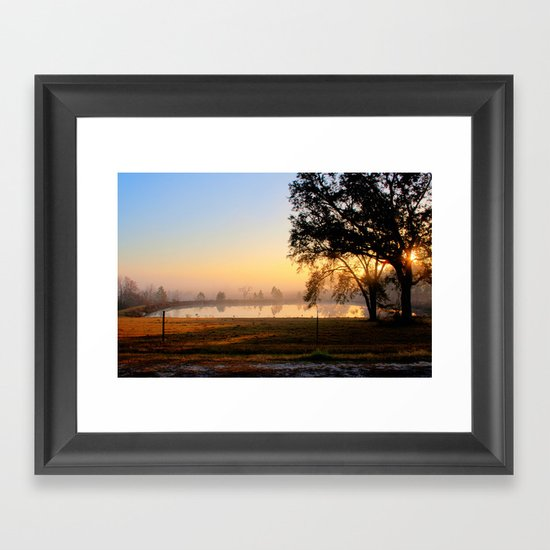 South Georgia Sunrise 2 Framed Art Print