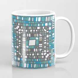 Squared layers in orange and blue Coffee Mug