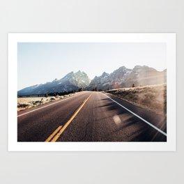 Road to Jenny Lake Art Print