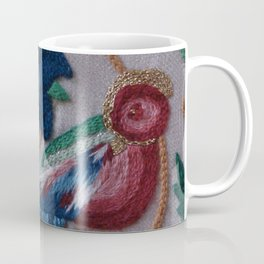 Elizabethan Embroidered Bird Coffee Mug