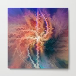 Burst of energy | Somewhere in the universe new star is bursting Metal Print