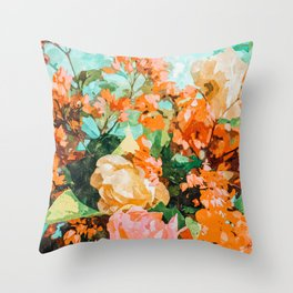 Blush Garden #painting #nature #floral Throw Pillow