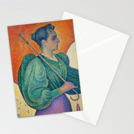 Paul Signac, 1893, Femme à l'ombrelle Stationery Cards