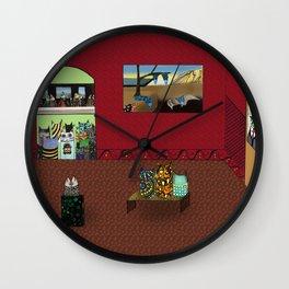 Museum Cats Wall Clock