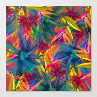 tropical Canvas Prints featuring tropical by mark ashkenazi