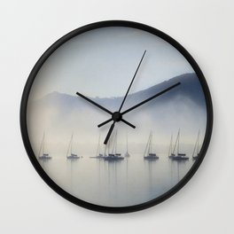 Calm In The Harbor Wall Clock