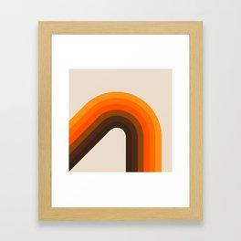 Golden Bending Bow Framed Art Print