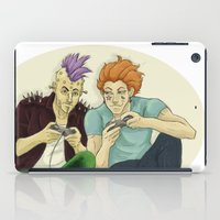 playstation iPad Cases featuring Two Killers and a Playstation by dedfox