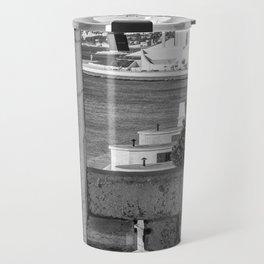 Lisbon Belem tower black white Travel Mug