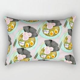 Ramen Cats Pattern Rectangular Pillow