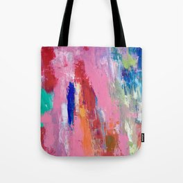 Lucky #13, a contemporary abstract in pinks and fuchsias Tote Bag