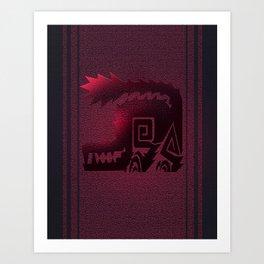 Monster Hunter - Odogaron Banner Art Print